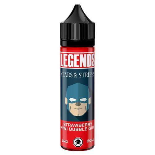 Legends Stars And Stripes Berrylicious Bubble Gum 50ml Shortfill E-Liquid