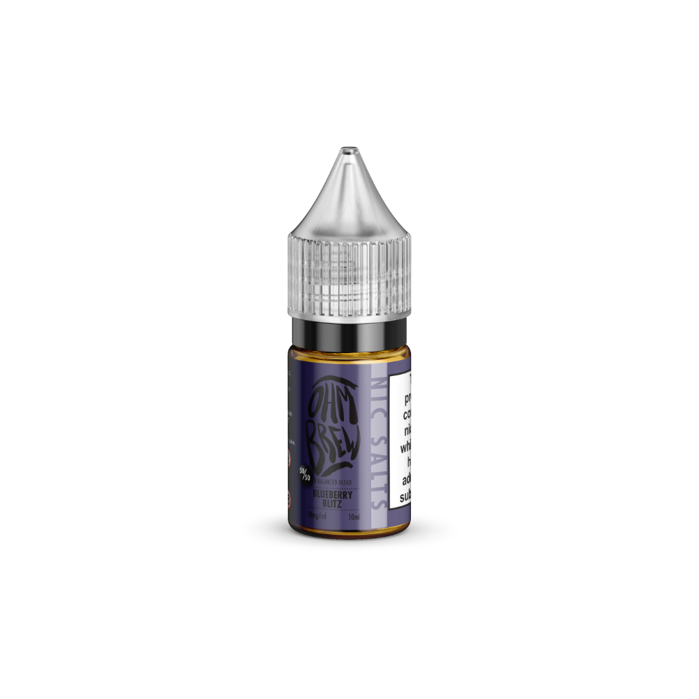 Ohm Brew Blueberry Blitz Nic Salt E-Liquid 10ml