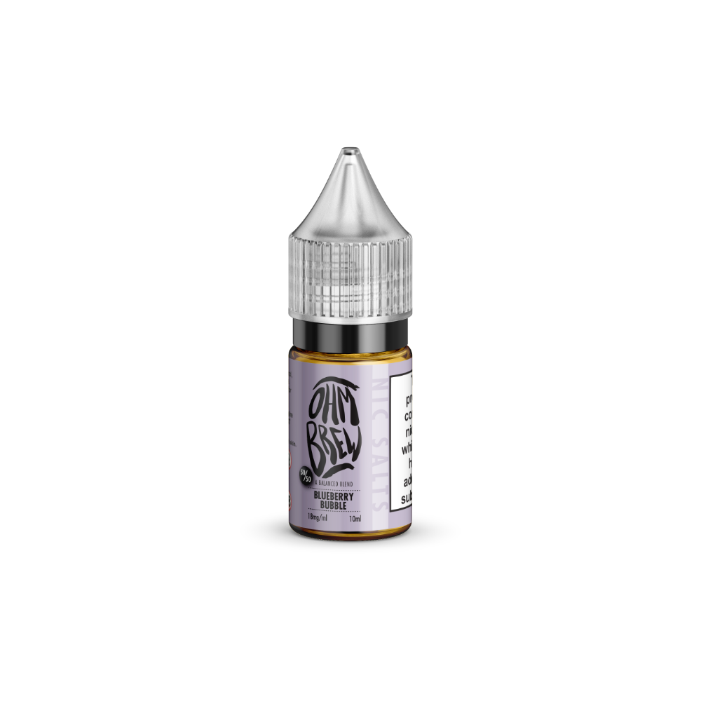 Ohm Brew Blueberry Bubble 10ml Nic Salt E-Liquid