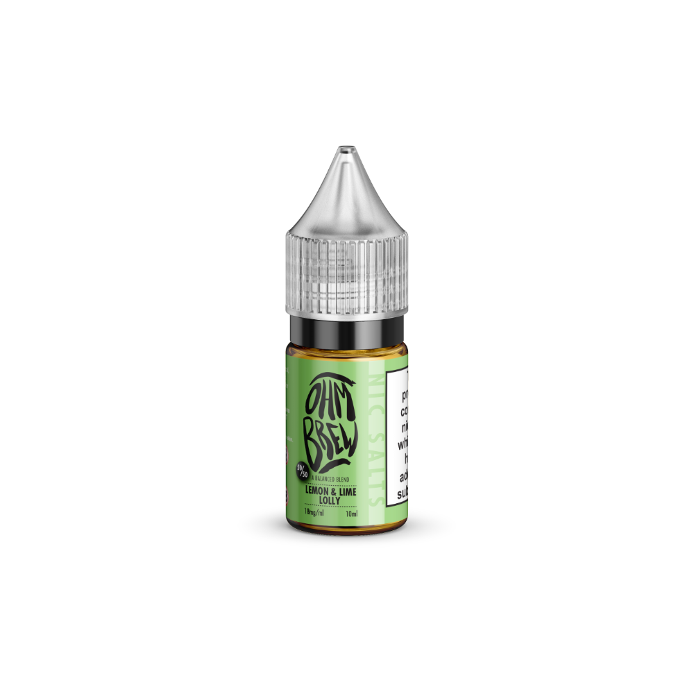 Ohm Brew Lemon and Lime Lolly 10ml Nic Salt E-Liquid