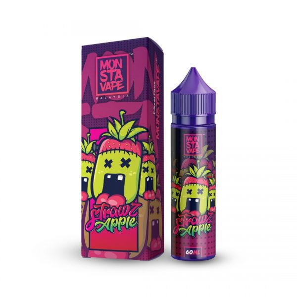 Monsta Vape Strawz & Apple 50ml Shortfill E-Liquid
