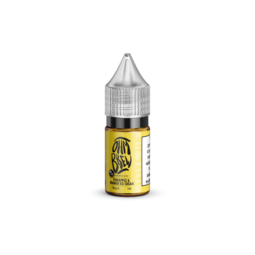 Ohm Brew Pineapple And Mango Ice Cream 10ml Nic Salt E-Liquid