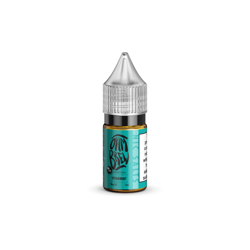 Ohm Brew Spearmint 10ml Nic Salt E-Liquid