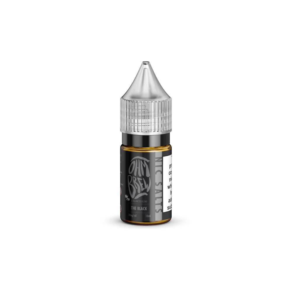 Ohm Brew The Black 10ml Nic Salt E-Liquid