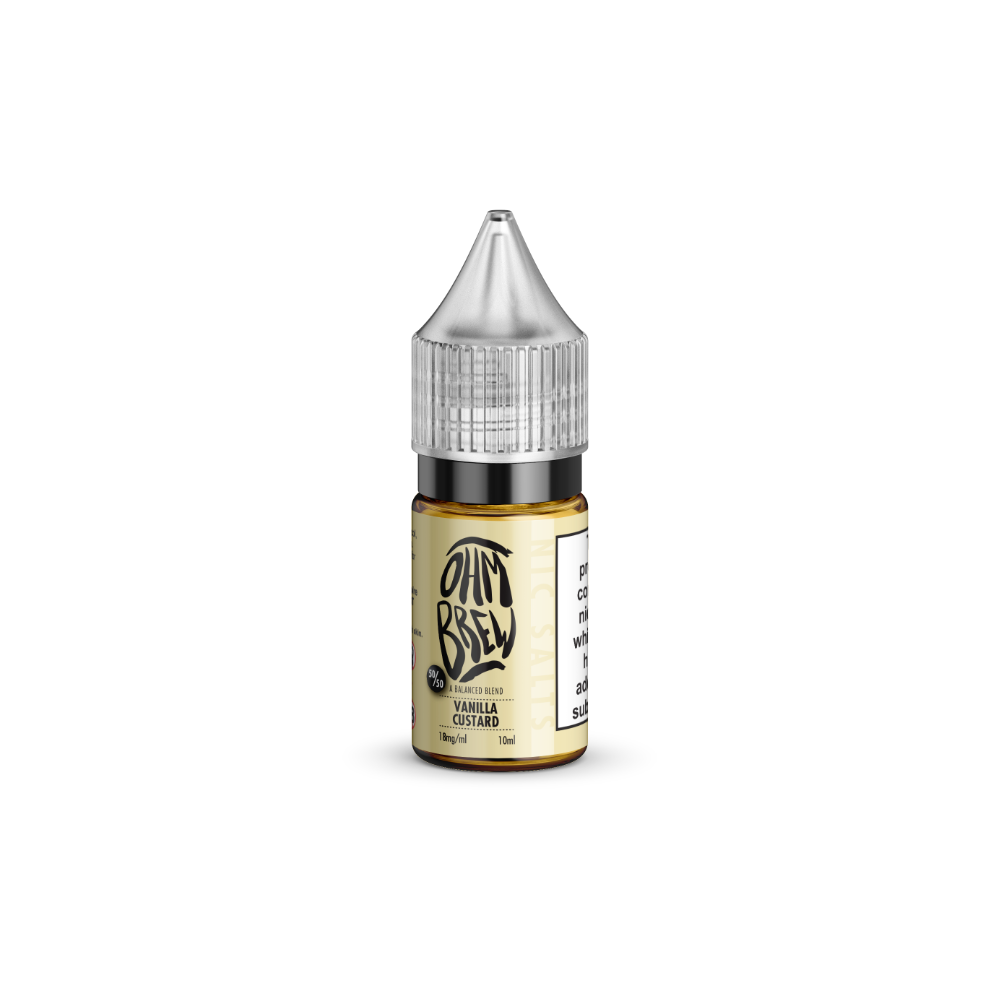 Ohm Brew Vanilla Custard 10ml Nic Salt E-Liquid