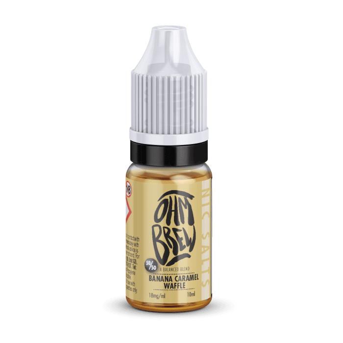 Ohm Brew Banana Caramel Waffle Nic Salt 10ml E-Liquid