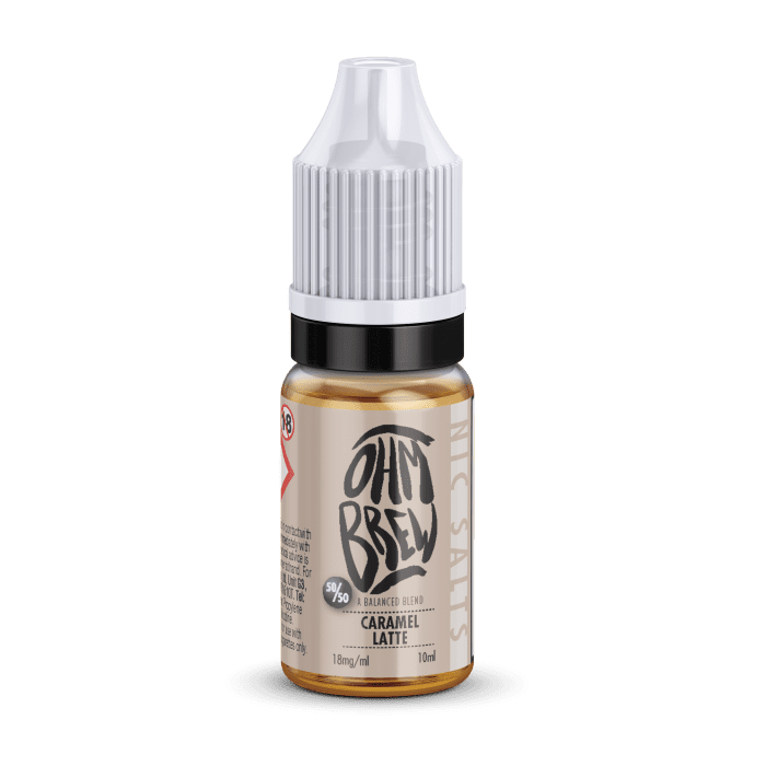 Ohm Brew Caramel Latte Nic Salt E-Liquid 10ml