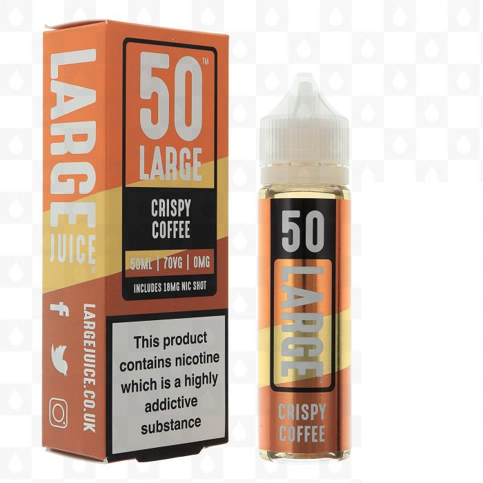 Large Juice 50 Crispy Coffee 50ml Shortfill E-Liquid