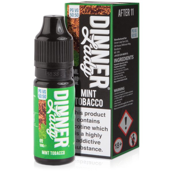 Dinner Lady Mint Tobacco 10ml E-Liquid 50/50