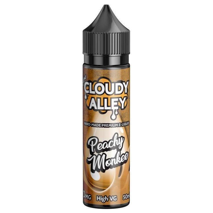 Cloudy Alley Peachy Monkee 50ml Shortfill E-Liquid