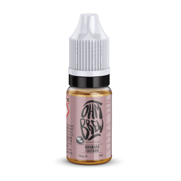 Ohm Brew Rhubarb Custard Nic Salt E-Liquid 10ml