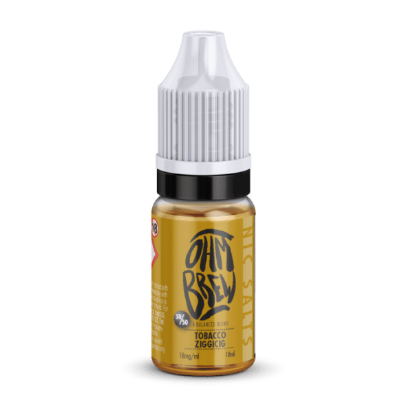Ohm Brew Tobacco Ziggicig Nic Salt 10ml