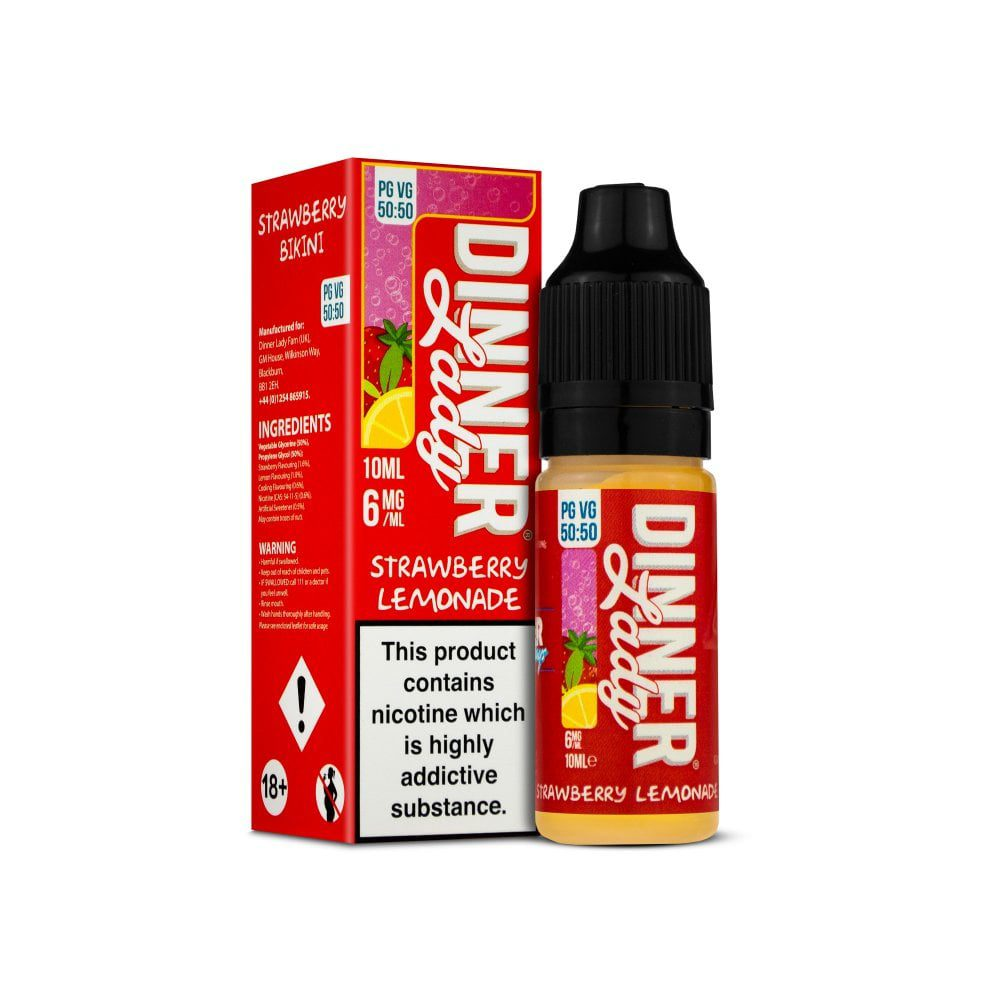 Dinner Lady Strawberry Lemonade 10ml E-Liquid