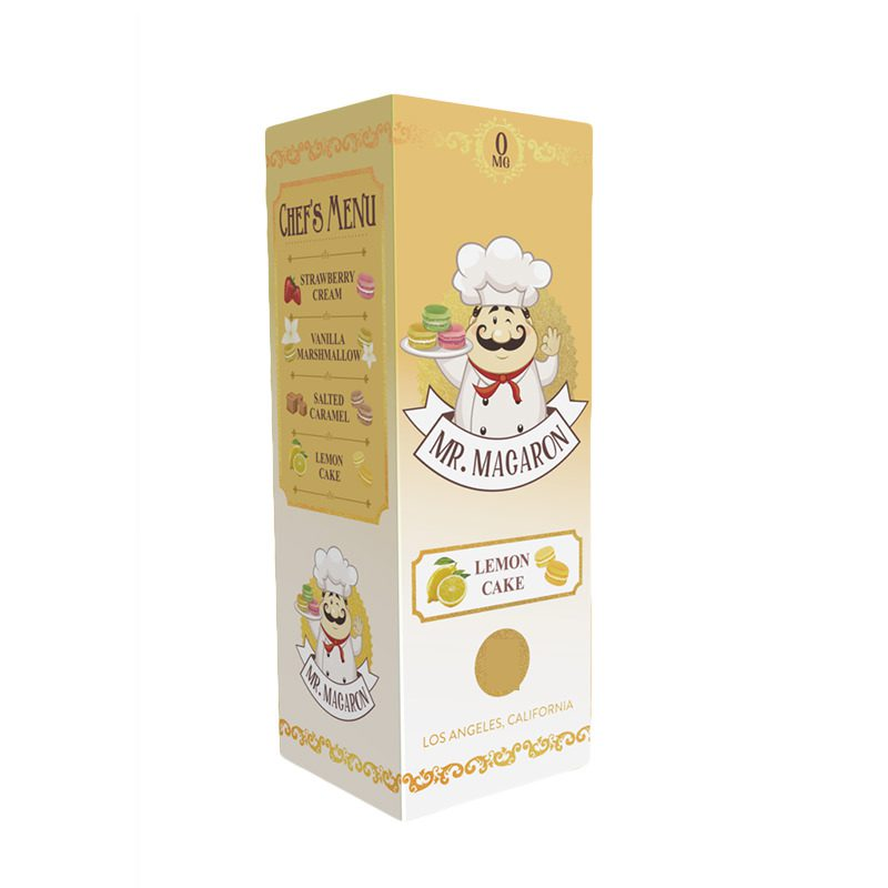 Mr Macaron Lemon Cake 100ml Shortfill E-Liquid