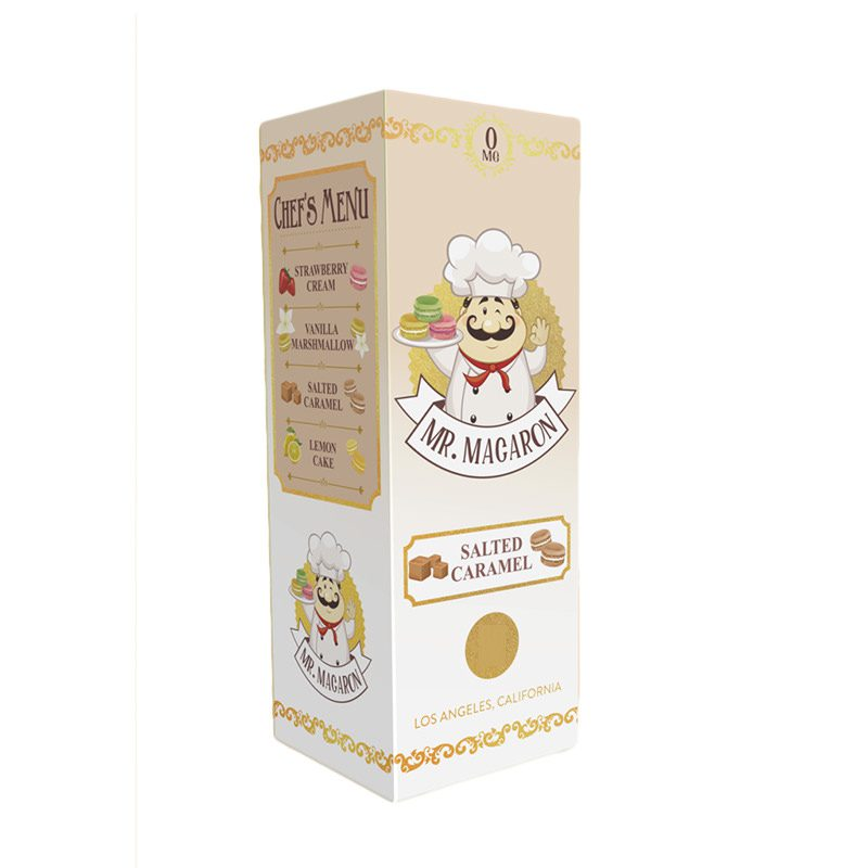Mr Macaron Salted Caramel 100ml Shortfill E-Liquid