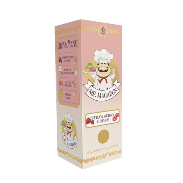 Mr Macaron Strawberry Cream 100ml Shortfill E-Liquid