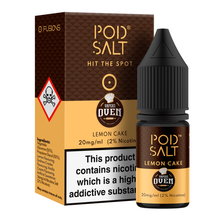 Pod Salt Lemon Cake 10ml Nic Salt E-Liquid