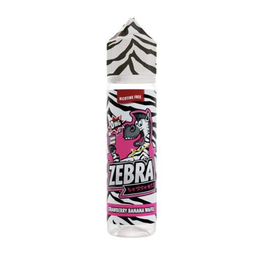 Zebra Dessertz Strawberry Banana Waffle 50ml Shortfill E-Liquid