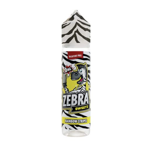 Zebra Sweetz Rainbow Stripes 50ml Shortfill E-Liquid