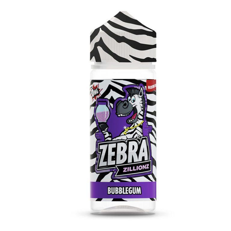 Zebra Zillionz Bubblegum 50ml Shortfill E-Liquid
