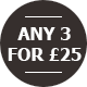 Any 3 For £25